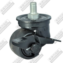 2.5 inch screw rod brake nylon wheel