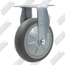 4 inch flat bottom fixed super artificial rubber wheel